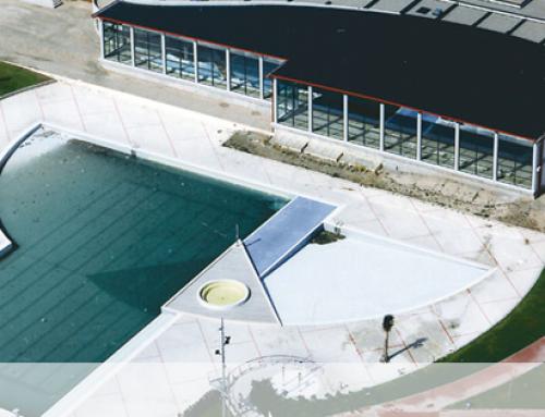 Ideconsa construye el nuevo acceso a puerto venecia for Piscina publica zaragoza